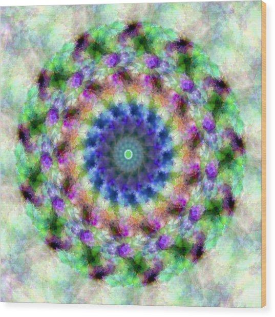 Spirea Mandala #1 Wood Print