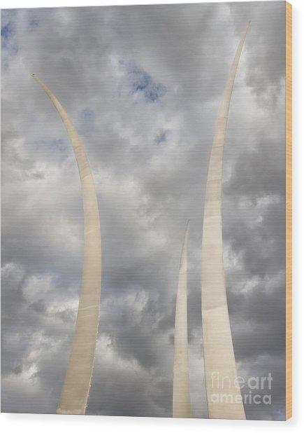 Spires Upward-2 Wood Print