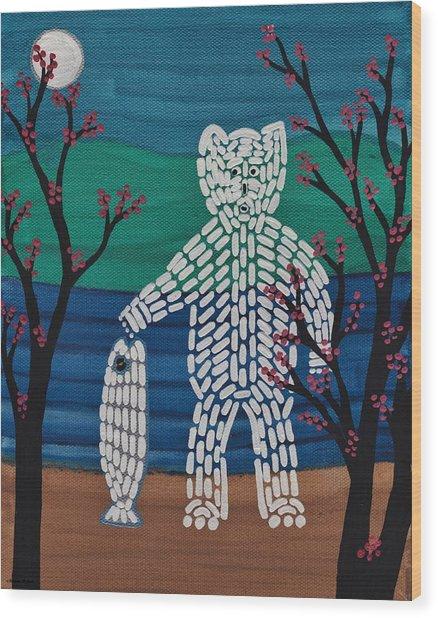 Spirit Bear Bella Coola Wood Print