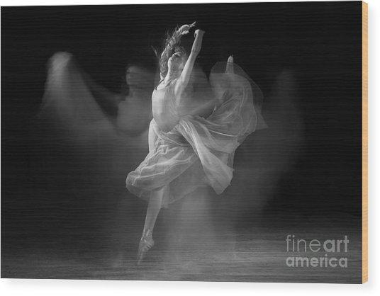 Spirit Dance In Black And White Wood Print