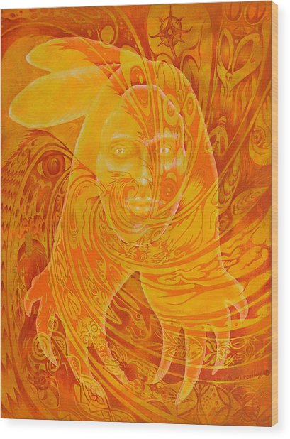 Spirit Fire Wood Print