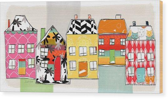 Spirit House Row Wood Print