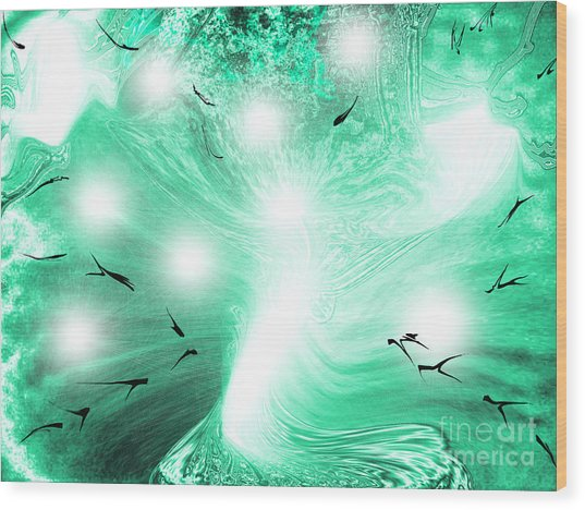 Spirit Of Creation Wood Print by Roxy Riou