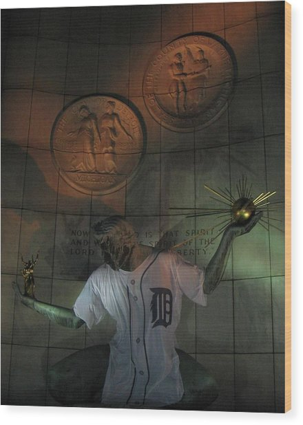Spirit Of Detroit Tigers Wood Print