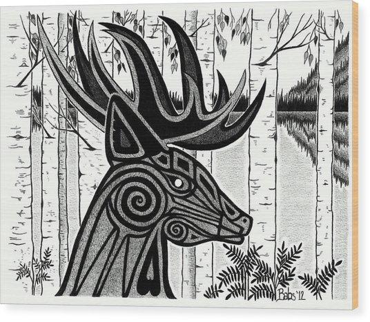 Spirit Of Gentle Strength Wood Print