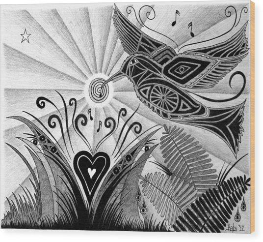 Spirit Of Joy  Wood Print