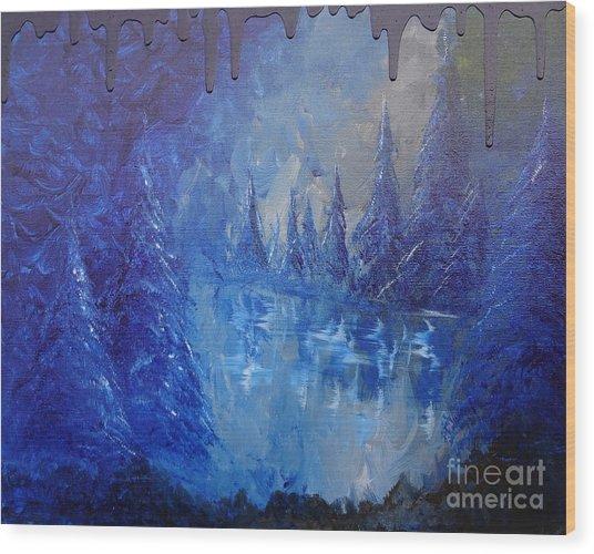 Spirit Pond Wood Print