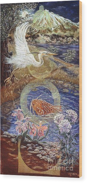 Spirit Rising Wood Print by Gail Allen
