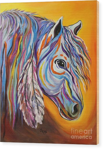 'spirit' War Horse Wood Print