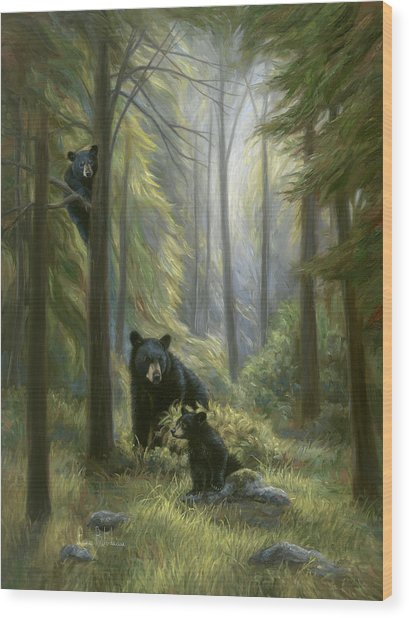 Spirits Of The Forest Wood Print