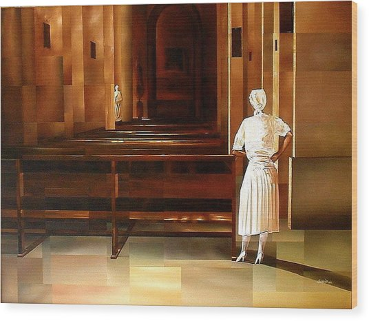 Spiritual Enlightenment Wood Print by Laurend Doumba