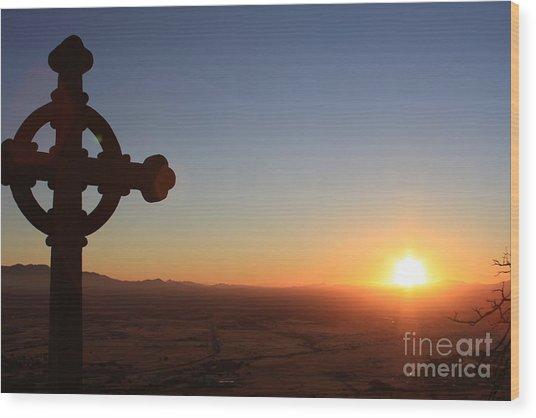 Spiritual Sunrise Wood Print