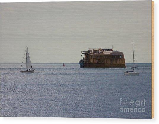 Spitbank Fort Martello Tower Wood Print
