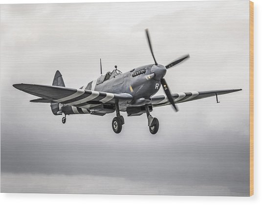 Spitfire Coming Home Wood Print