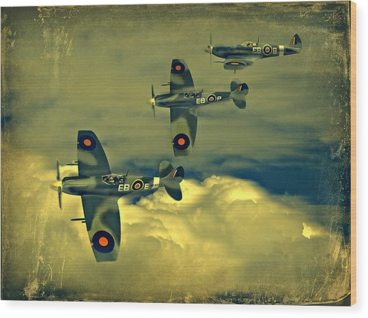 Spitfire Flight Wood Print