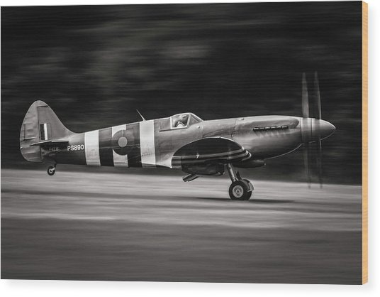 Spitfire Mk Xix Wood Print by J??r??me Licois