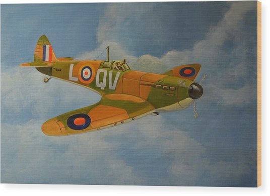 Spitfire Mk1a Wood Print