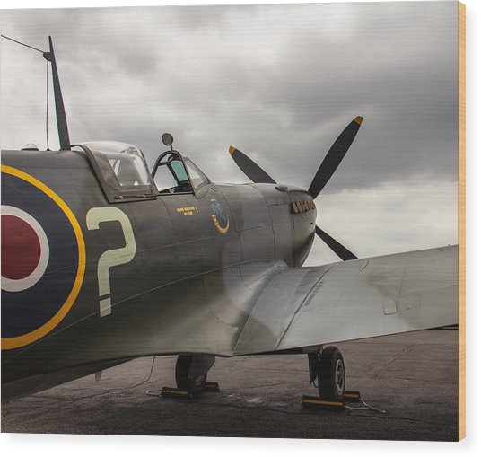 Spitfire On Display Wood Print