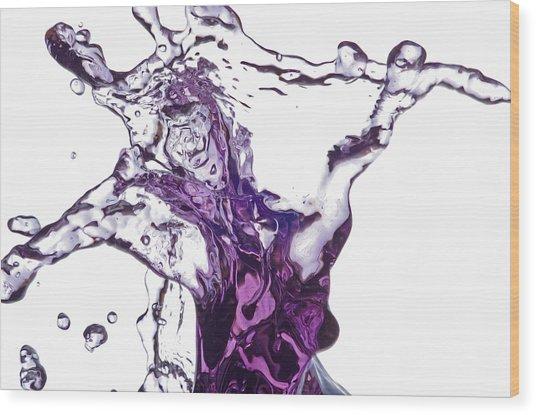 Splash 5 Wood Print