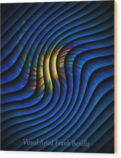 Wood Print featuring the digital art Splash Of Color by Visual Artist Frank Bonilla