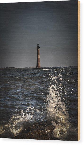 Splash Of Light Wood Print