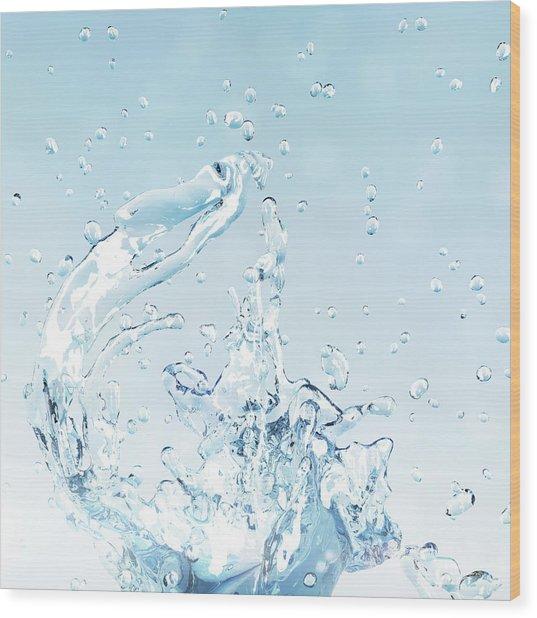 Splash Of Water Wood Print by Maciej Frolow