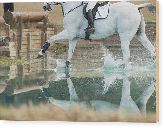 Splashy Reflection Wood Print