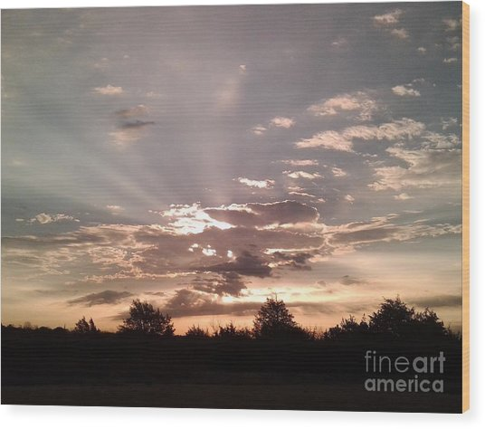Splendid Rays Wood Print