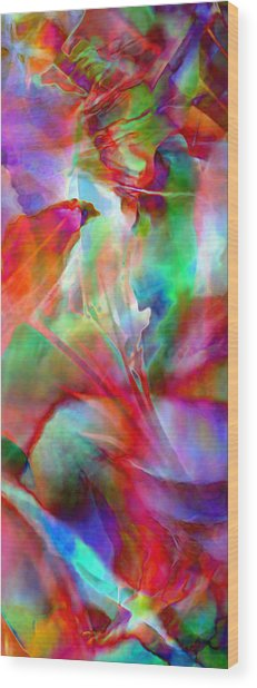 Wood Print featuring the painting Splendor - Abstract Art by Jaison Cianelli