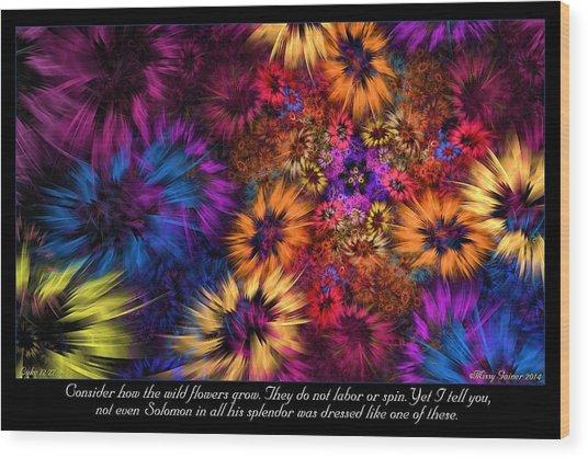Wood Print featuring the digital art Splendor by Missy Gainer