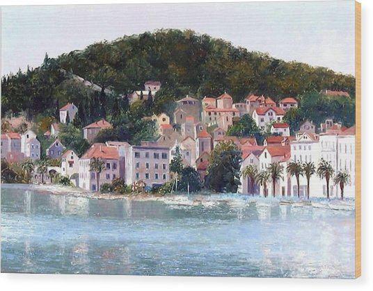 Split Harbour Croatia Wood Print