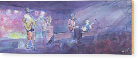 Split Lip Rayfield Wakarusa 2005 Wood Print