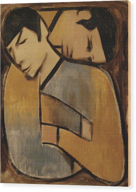 Spock Captan Kirk Cubism Wood Print