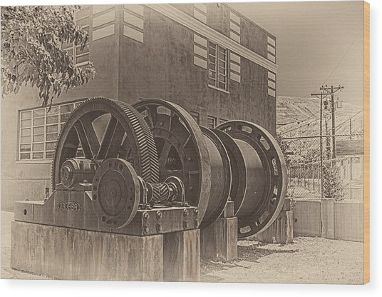Spools And Gears Wood Print