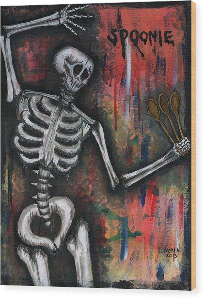 Spoonie Wood Print by Marisol McKee