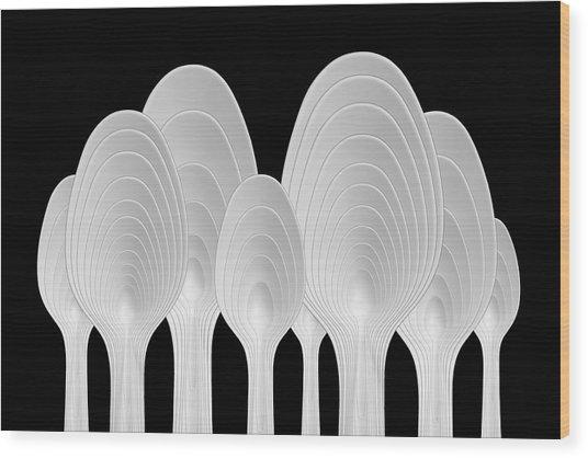 Spoons Abstract: Tree Rings Wood Print