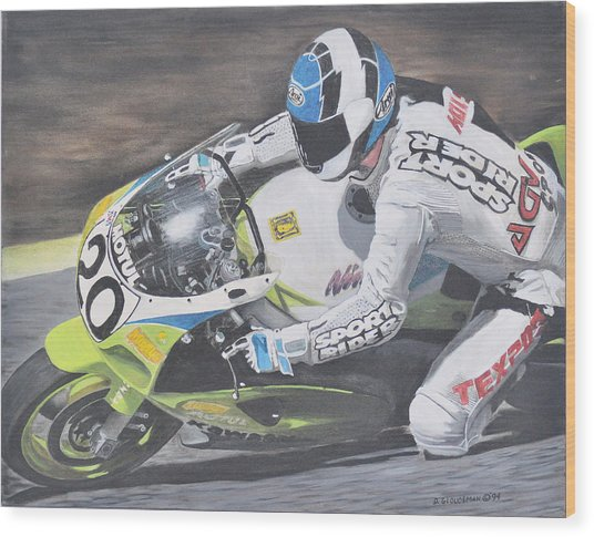 Sport Rider Wood Print by Denis Gloudeman