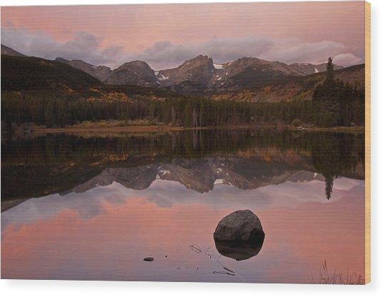 Sprague Lake Sunrise Wood Print