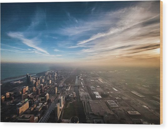 Sprawling City Looking South Wood Print by By Ken Ilio