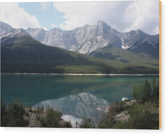 Spray Lake  Wood Print by Carolyn Ardolino