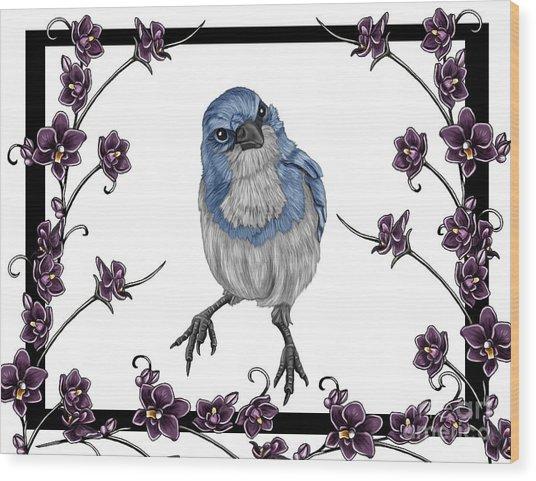 Spring 2 Wood Print by Karen Sheltrown