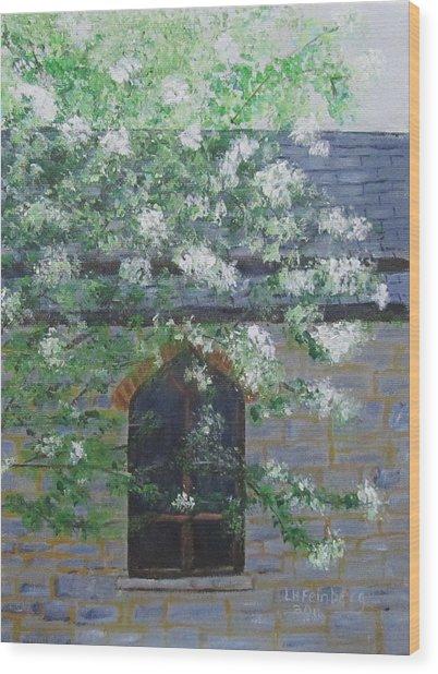 Spring At Grace Church Wood Print