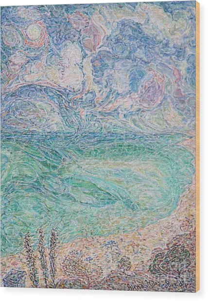 Spring Clouds Over The Azov Sea Wood Print