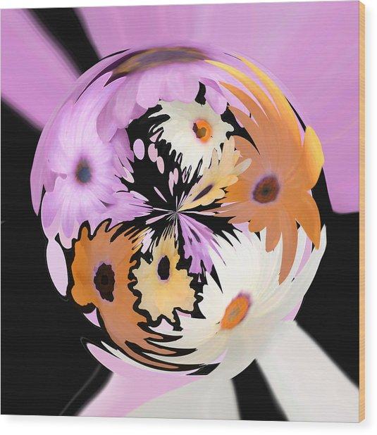 Spring Daisies Series 111 Wood Print