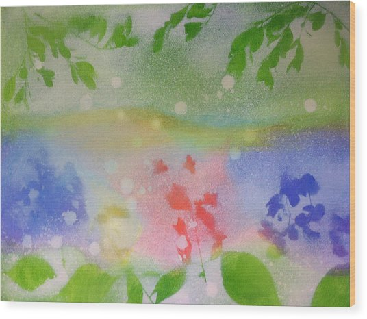 Spring Dance Wood Print by Michelle Hoshino