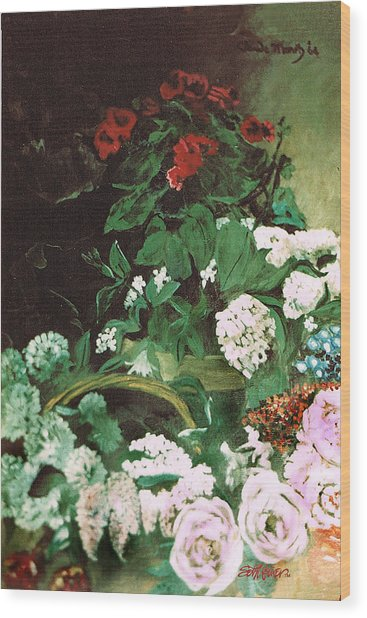 Spring Flowers Study Of Monet Wood Print