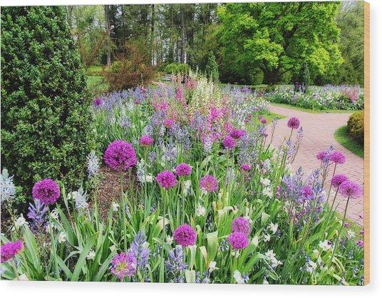 Spring Gardens Wood Print