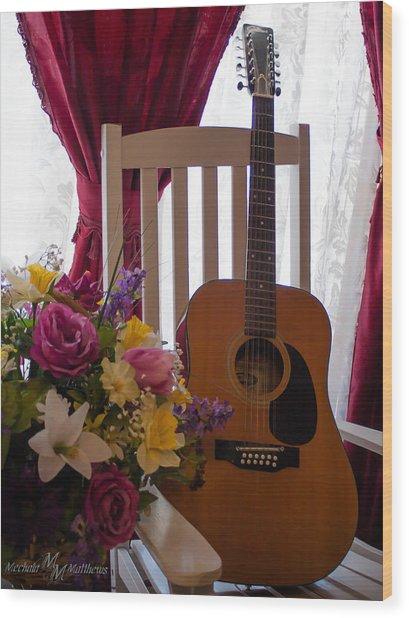 Spring Guitar Wood Print
