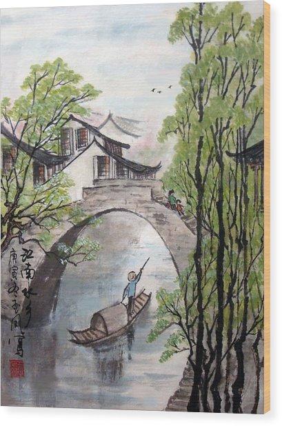 Spring In Ancient Watertown Wood Print