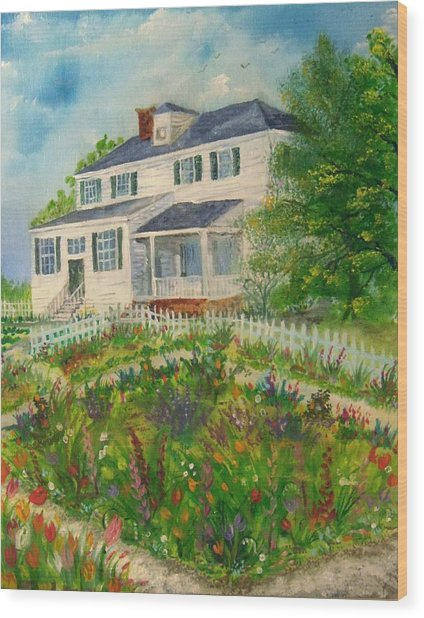 Spring In Colonial Williamsburg- Cole House Wood Print